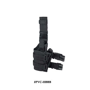 UTG Extreme Ops Tactical Thigh Holster Right Handed Black