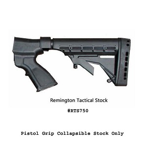 Phoenix Tech Field Series Remington 870 Tactical Stock 12 ga-  (No recoil Reduction System and No Forend) - Black
