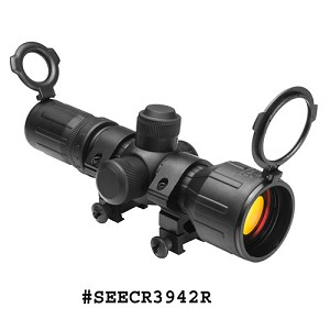 NcStar 3-9X42 Compact Rubber Armored Rifle Scope / Dual Ill