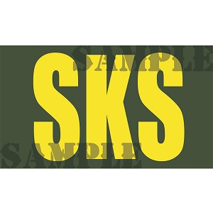 Ammo Can Magnet SKS - Yellow Standard .50Cal