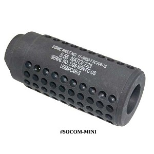 GunTec AR-15 Micro Reverse Thread Slip Over SOCOM Style Fake Suppressor – Gen 2 - Black