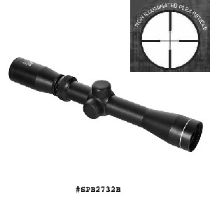 NcStar 2-7 X 32 Long Eye Relief Scope w/Rings