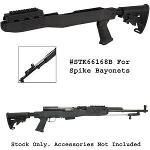 SKS T6 Adjustable Stock w/Spike Bayonet Cut -Black