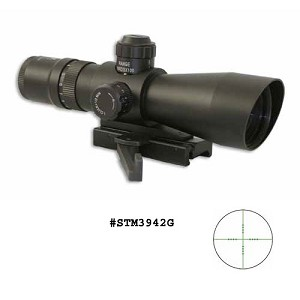 NcStar 3-9X42 Red / Green Illuminated Mil Dot Scope With Quick Release Weaver Mount