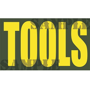 Ammo Can Magnet TOOLS - Yellow Standard .50Cal
