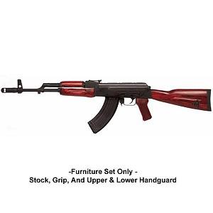 TimberSmith Premium Red Laminate Romanian AK-47 Stock Set