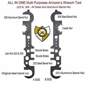 GunTec AR-15 / AR .308 Armorer's Combination Wrench Gen 2