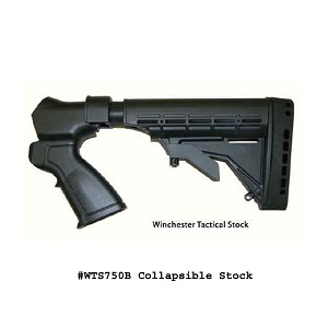 Phoenix Tech Field Series Winchester 1200 / 1300 Tactical Stock 12ga-  (No recoil Reduction System and No Forend) - Black