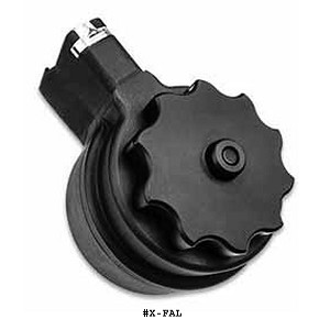 X Products FAL .308 50 Round Drum Magazine -Restricted Item -Check Your Local and State Laws Prior To Ordering