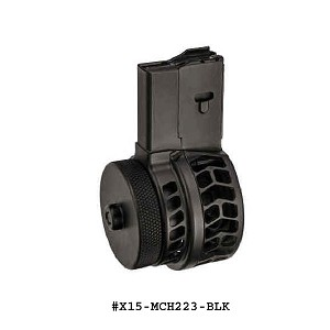 X-15 Skeletonized Chevron 50 Round Drum Magazine for AR-15 & M16-Restricted Item -Check Your Local and State Laws Prior To Ordering