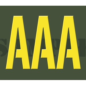 Ammo Can Sticker AAA - Yellow Stencil .30Cal